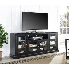 Amazoncom WE Furniture 70 Black 65 Inch Tv Stand W99