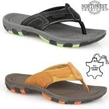 Flip Flop Shoe Size Chart Details About Mens Leather Summer Sandals Walking Toe Post Flip Flops Sandals Beach Shoes Size