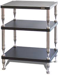 the hp series from solidsteel is an ultra high performance hi fi rack featuring massive floor spikes and a unique damped ceramic shelf