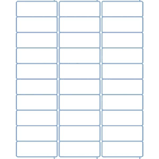 avery 1 x 2 5 8 template 2 5 8 x 1 standard address sheet labels for laser printers