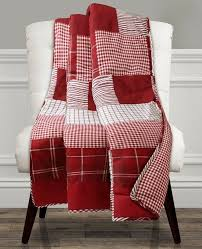 greenville red quilted throw patchwork