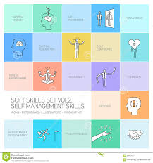 self management soft skills linear icons stock illustration self management soft skills linear icons