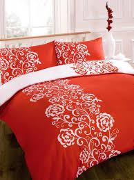duvet cover red white