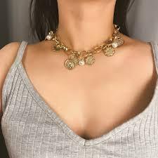 Очаровательное ожерелье с воротником из нержавеющей стали ...