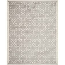 safavieh amherst light grey indoor outdoor rug 11 x 16