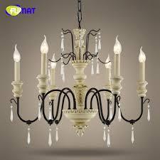 fumat k9 crystal chandeliers european vintage suspension lamp living room dining loft art deco light fixtures