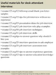 Desk Attendant Sample Resume Magnificent Top 44 Desk Attendant Resume Samples