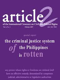 Criminal Justice System In The Phil Victimology Human Rights