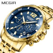MEGIR <b>Chronograph Quartz Men</b> Watch Top Brand Luxury Army ...