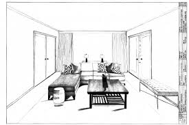 ... One Point Perspective Interior Design Communication I Asid ...