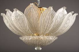 vintage murano glass chandelier pale opalescent creamy white