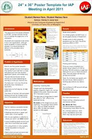 A0 Size Poster Template Poster Template Research Presentation Templates Free Ppt