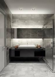 bathroom lighting design. smart indirect lighting helps the smoothly textured and monochromatic bathroom feel bright welcoming without becoming design