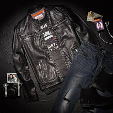 outfit grid leather jacket