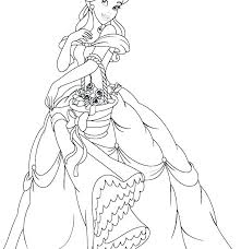 Princess Coloring Pages Printable Belle Free Jasmine Color