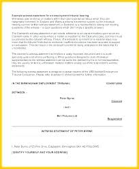 Witness Statement Template For Work