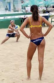 Women's beach volleyball. Hands down ...