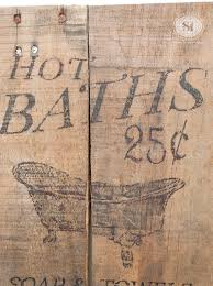 hot bath pallet board sign