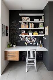 office ideas for small spaces. Small Home Office Idea With Chalkboard Walls [Design: John Donkin Architect]: Ideas For Spaces