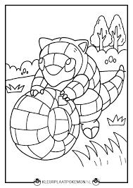 Kleurplaat Van Sandshrew Downloaden Kleurplaat Pokémon