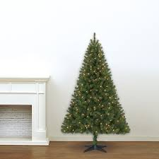 5u0027 Flocked Spruce Prelit Christmas Tree  Christmas Tree MarketPre Lit Spruce Christmas Tree