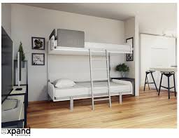 Folding Bunk Bed Hover Compact Fold Away Wall Bunk Beds Expand Furniture