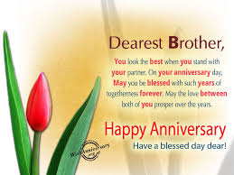 Anniversary Wishes For Brother Wishes Greetings Pictures Wish Guy
