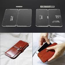 Leather Templates 1 Set Phone Cases Acrylic Leather Templates Sewing Pattern In