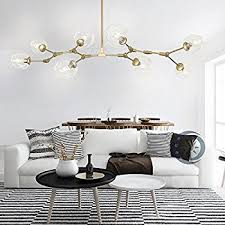 creative dining room chandelier. RS Lighting Nordic American Retro Creative Art Tree Branches Transparent  Glass Bubble Ball 8-Light Chandeliers Restaurant Gold Aluminum Alloy Living Room Creative Dining Room Chandelier E