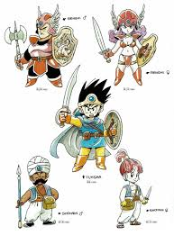 Dragon Quest Design Videogameart Tidbits On Dragon Quest Character Design Anime