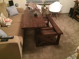 image lift top coffee table ana white diy rustic x style projects cocktail with storage mirrored