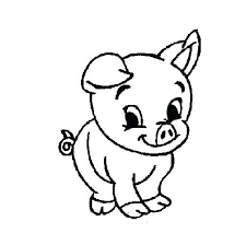 Pigs Coloring Pages Cute Baby Pig Coloring Pages Pig Cartoon