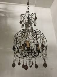 vintage italian crystal beaded murano glass chandelier for at pamono