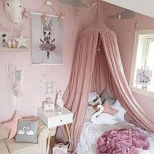 kids baby bed canopy bedcover mosquito net curtain bedding dome tent cotton uk pink