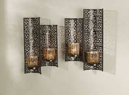 candle sconces wall for pretty home decor set of 2 laser cut wall sconces in