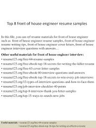 ... thumbnail 4jpg?cb=1434266215 Top8frontofhouseengineerresumesamples  150614071426 Lva1 App6891 Thumbnail 4 Top 8 Front Of House Engineer Resume  Samples