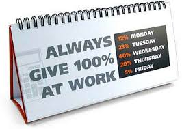 always give 100% at work united states of earth