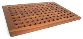 wooden shower mat teak bath and ireland