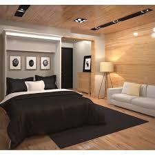 queen wall bed in white bestar 40184 17