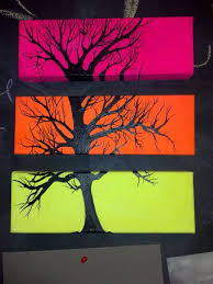 multiple canvas tree painting by cit cat kate