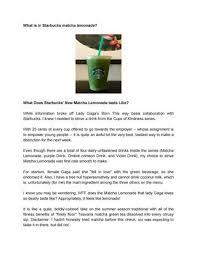 Starbucks Matcha Lemonade By Ella Rosie Issuu