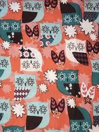 Cranston Print Works Retro Pink Orange Green Fabric | eBay ... & Bright Orange Owl Fabric Fat Quarters Package Of 4 Quilting Fabric Adamdwight.com
