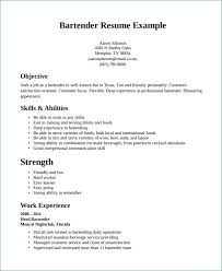 Bartender Resume Sample Best Of What To Put In The Skills Part A