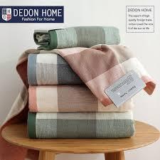 bath towels. Japan Style Plaid Towel 100% Cotton Bath Towels Solid Spa Bathroom Beach For Adults