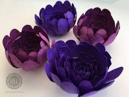 Diy Paper Flower Pretty Purple Blooms Diy Paper Flowers