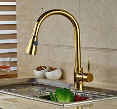 gold kitchen faucet. Manaus Deck Mounted Gold Finish Kitchen Sink Faucet A