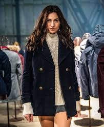 sentinel new womens superdry classic pea coat navy