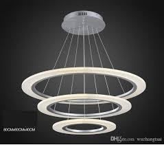 modern luxury round ring led pendant lamp diameter 40cm60cm80cm led pendant light acrylic silver frame rc dimmable 110v 220v led chandelier ceiling lamps