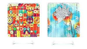 colorful fabric shower curtains best of rainbow