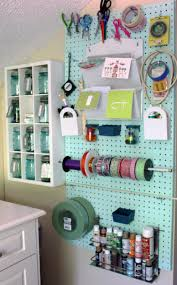 ... Mind Blowing Pegboard Decoration For Craft Room Design Ideas :  Interactive Craft Room Decorating Design Ideas ...